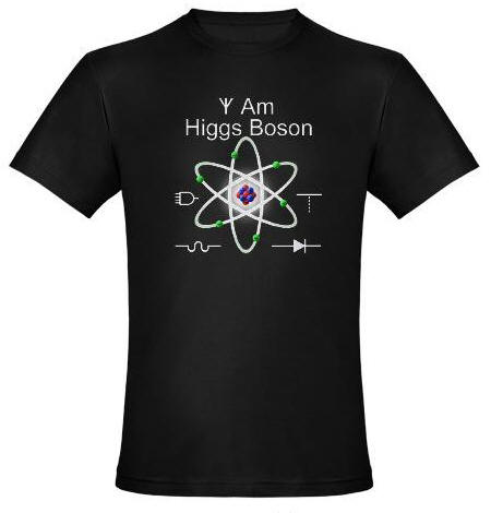 I Am Higgs Boson with Atom and 5 electrical component schematic symbols
