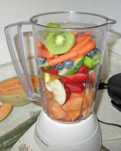 is blending fruits and vegetables healthy fruits that are vegetables