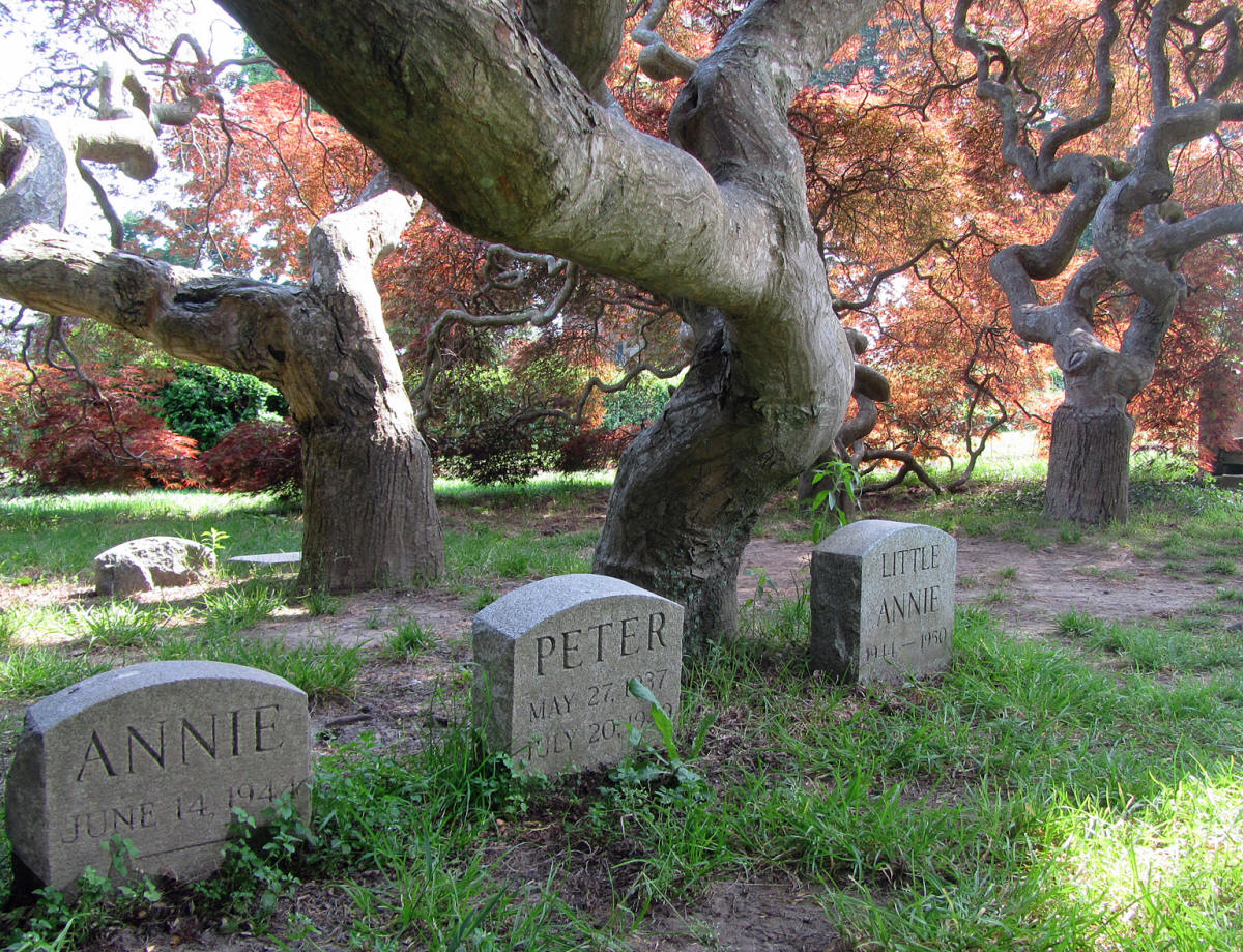 pet cemetery at eolia mansion at harkness memorial state