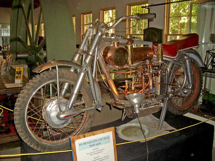 Old Steam Powered Motorcycle at the antique machinery ...