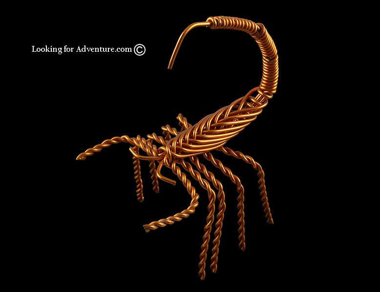 Copper Wire Scorpion Photo