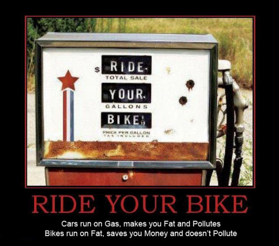 Ride your Bike and save yourself and save the planet